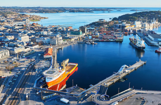 The port of Kristiansand