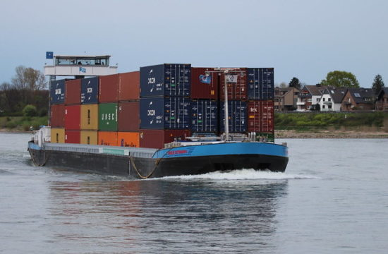 Inlandssjöfartsfartyget Emelie Deymann Byline: Reederei-Deymann