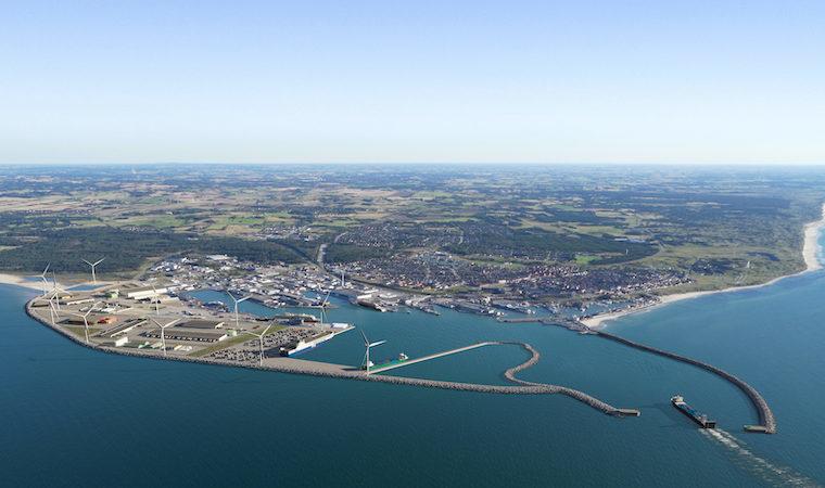 Aerial view of Hirtshals Port