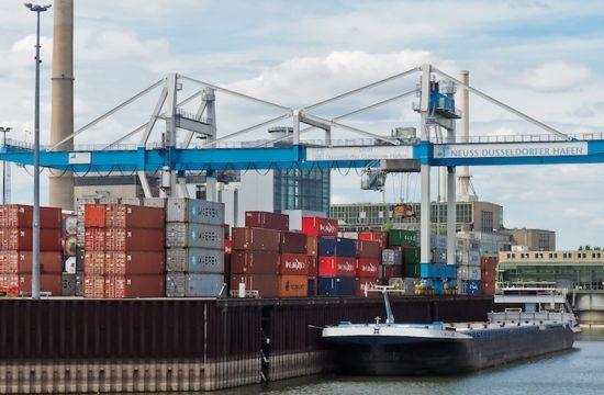 Port Neuss, Germany, dock operation